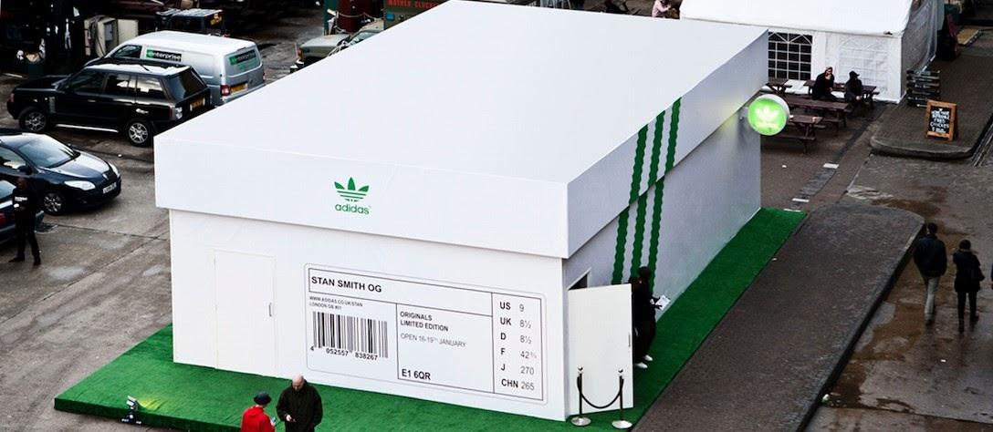 Pop up store original de la marque Adidas