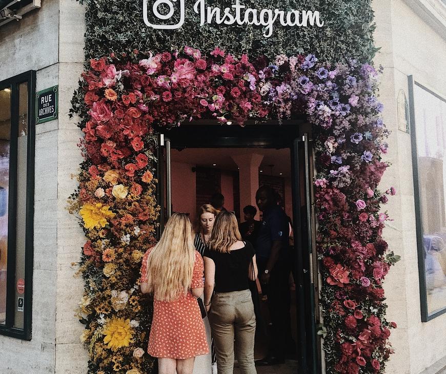 pop up store Instagram à Paris