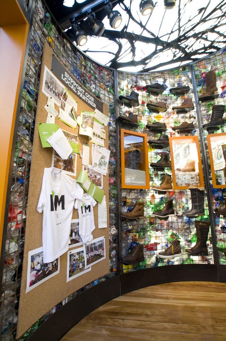 Un pop store Timberland en pleine rue à New York