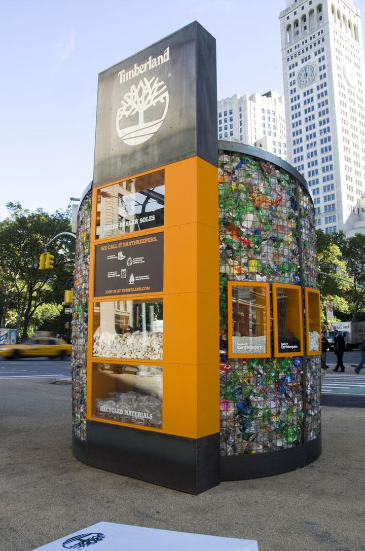 Un pop store Timberland en pleine rue à New York ©WWD