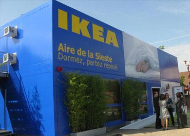 """pop store """"hotel"""" IKEA sur une aire d'autoroute ©IKEA"""