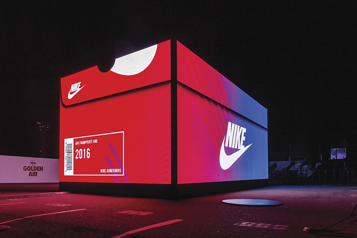 boîte chaussure nike pop up store nike