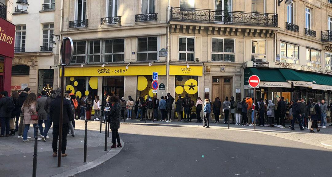 pop up store Pokémon x Celio à Châtelet