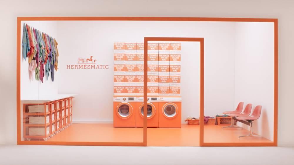 Hermèsmatic, le pop up store qui donne un coup de jeune à votre carré ©LePoint