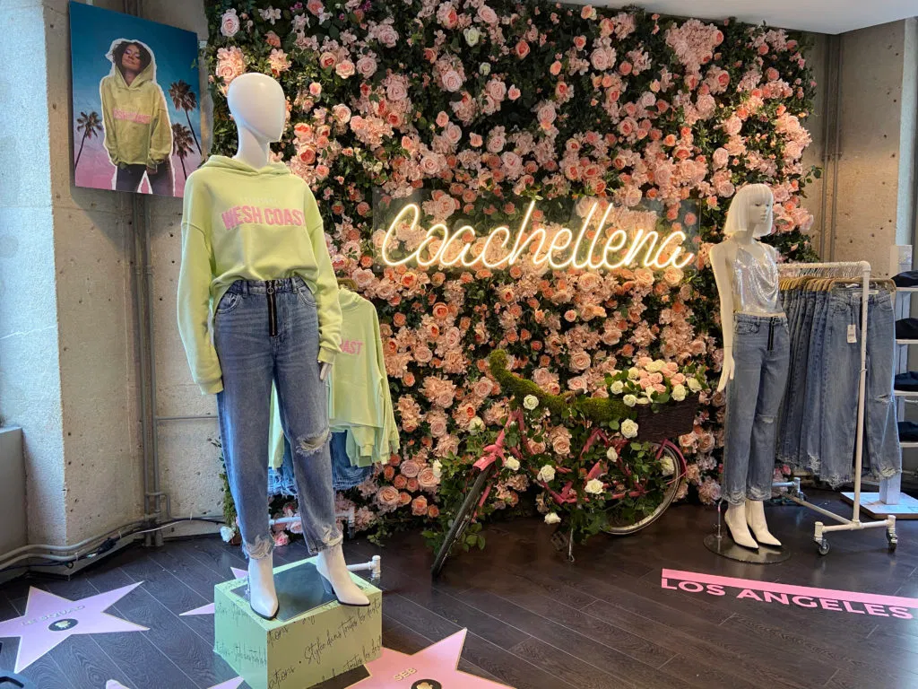 Pop up store Lena Situations x Jennyfer, espace Coachella ©Jennyfer