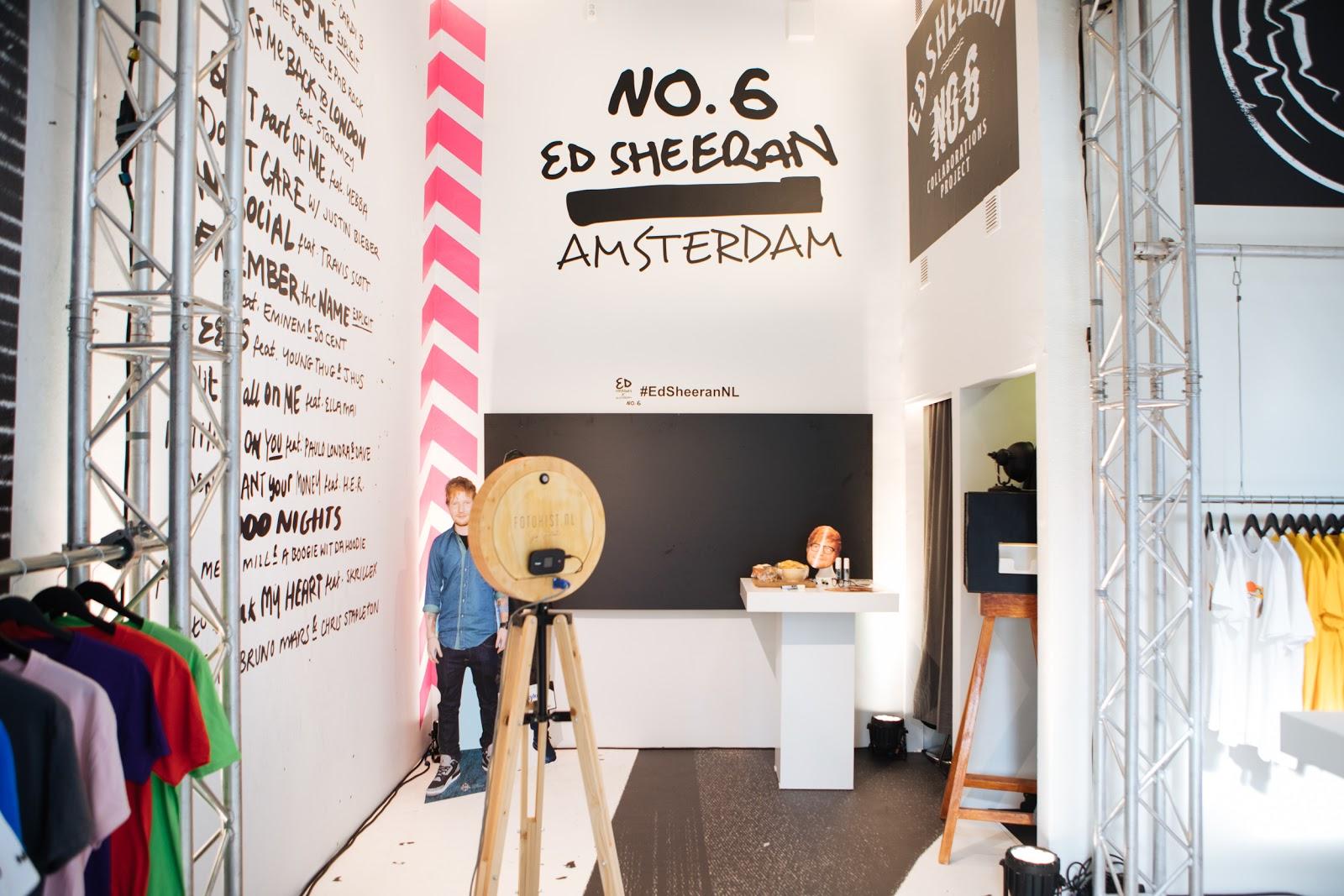 """Pop up store """"No.6"""" de Ed Sheeran à Amsterdam ©RobinAlysha"""