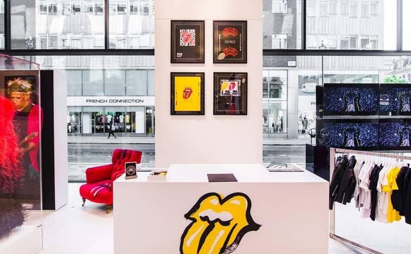 Sortie d'un pop up store Rolling Stones ©Fashion United
