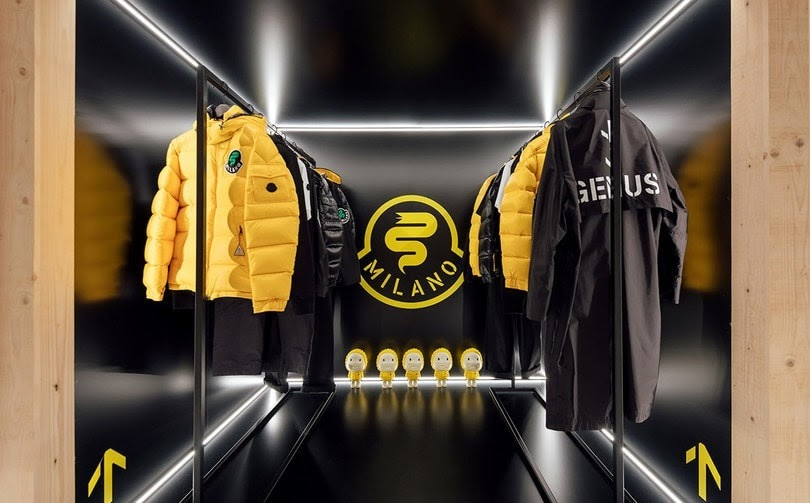 Le pop up store Moncler à Milan en 2019 ©FashionUnited
