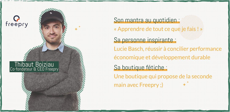 Interview Freepry : utiliser le point de vente pour rendre la seconde main plus propre.