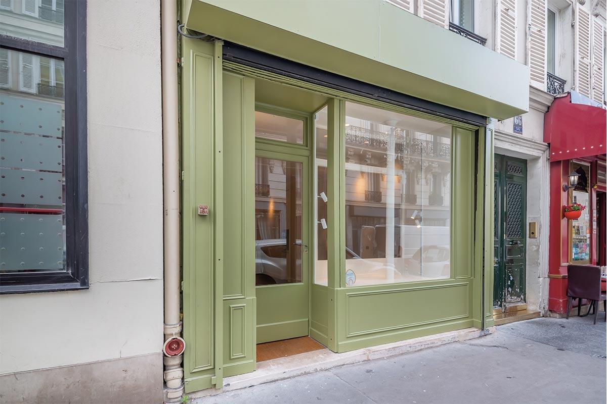 Rent a pop-up store Paris, rue Legendre