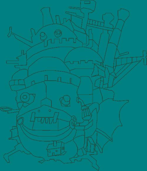 dessin château ambulant