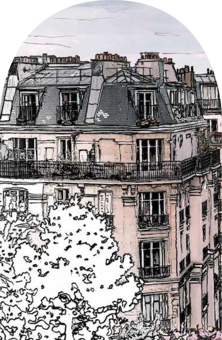 dessin toit de paris