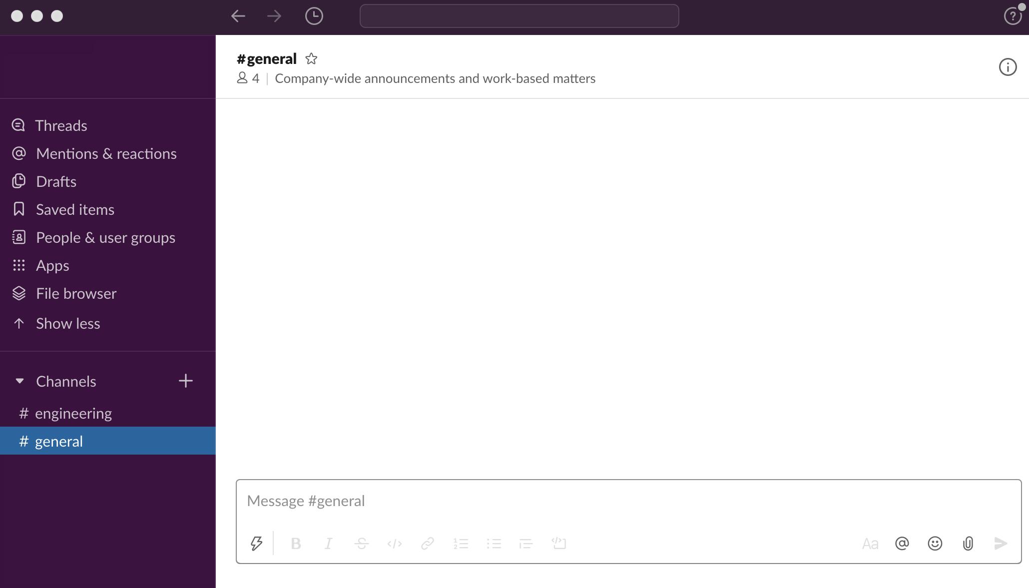 Slack-screen