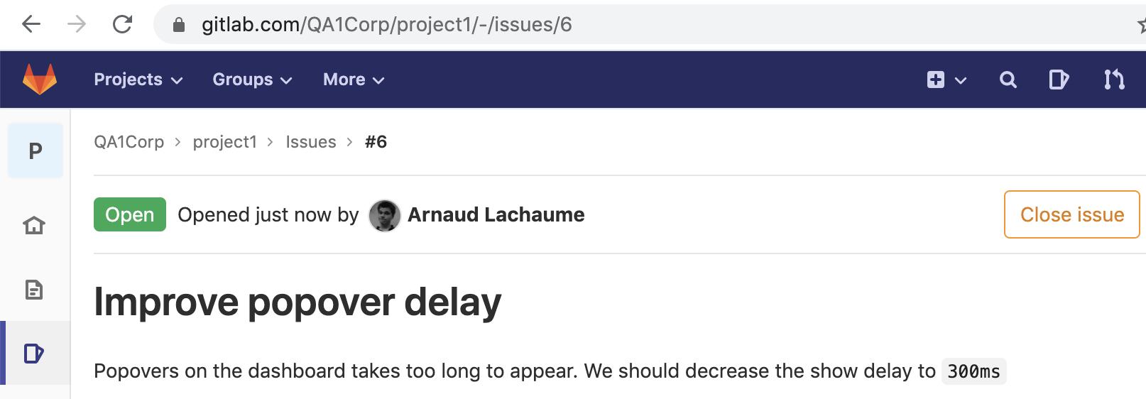 link via commit via GitLab