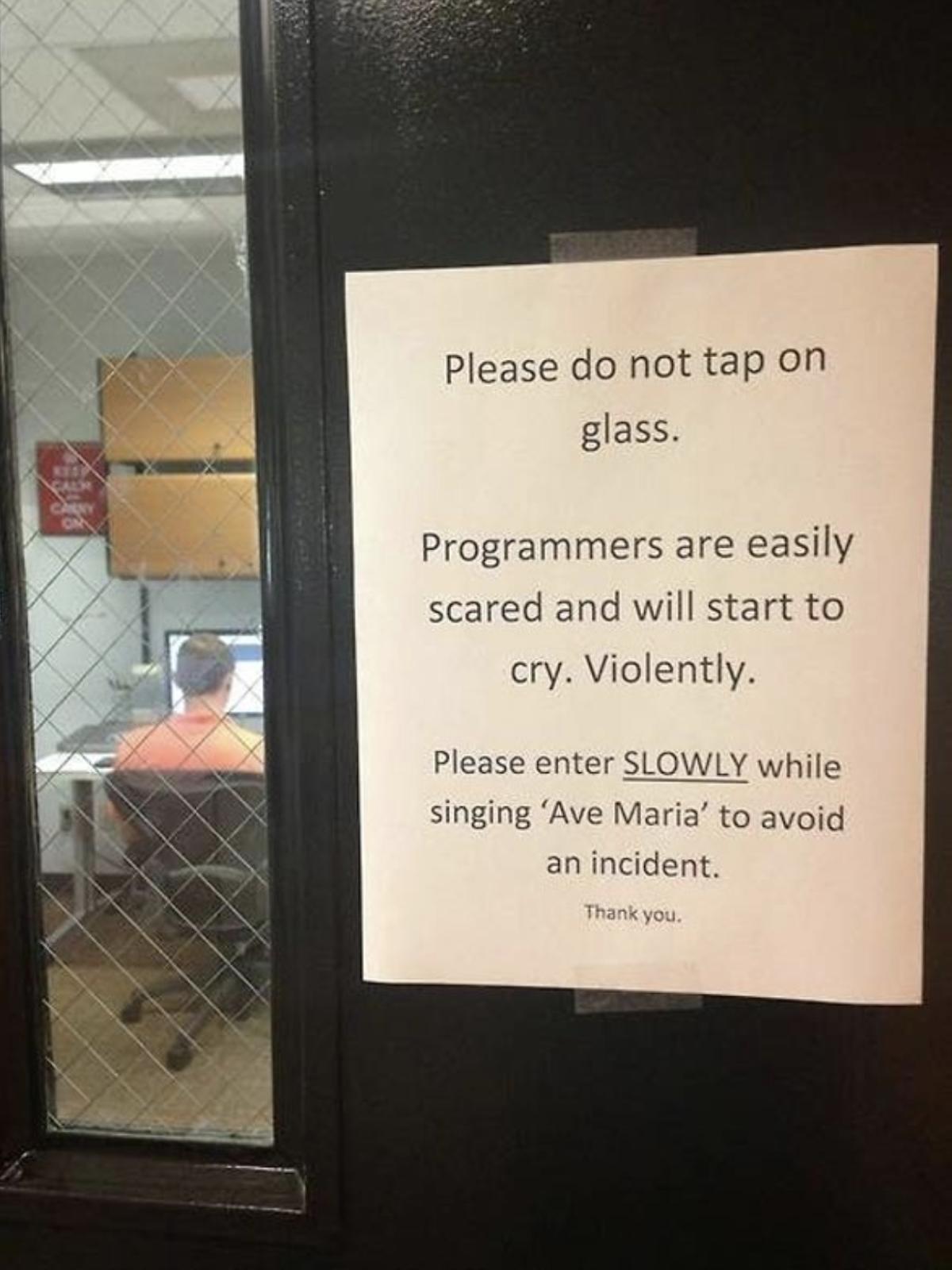 Programmer sign