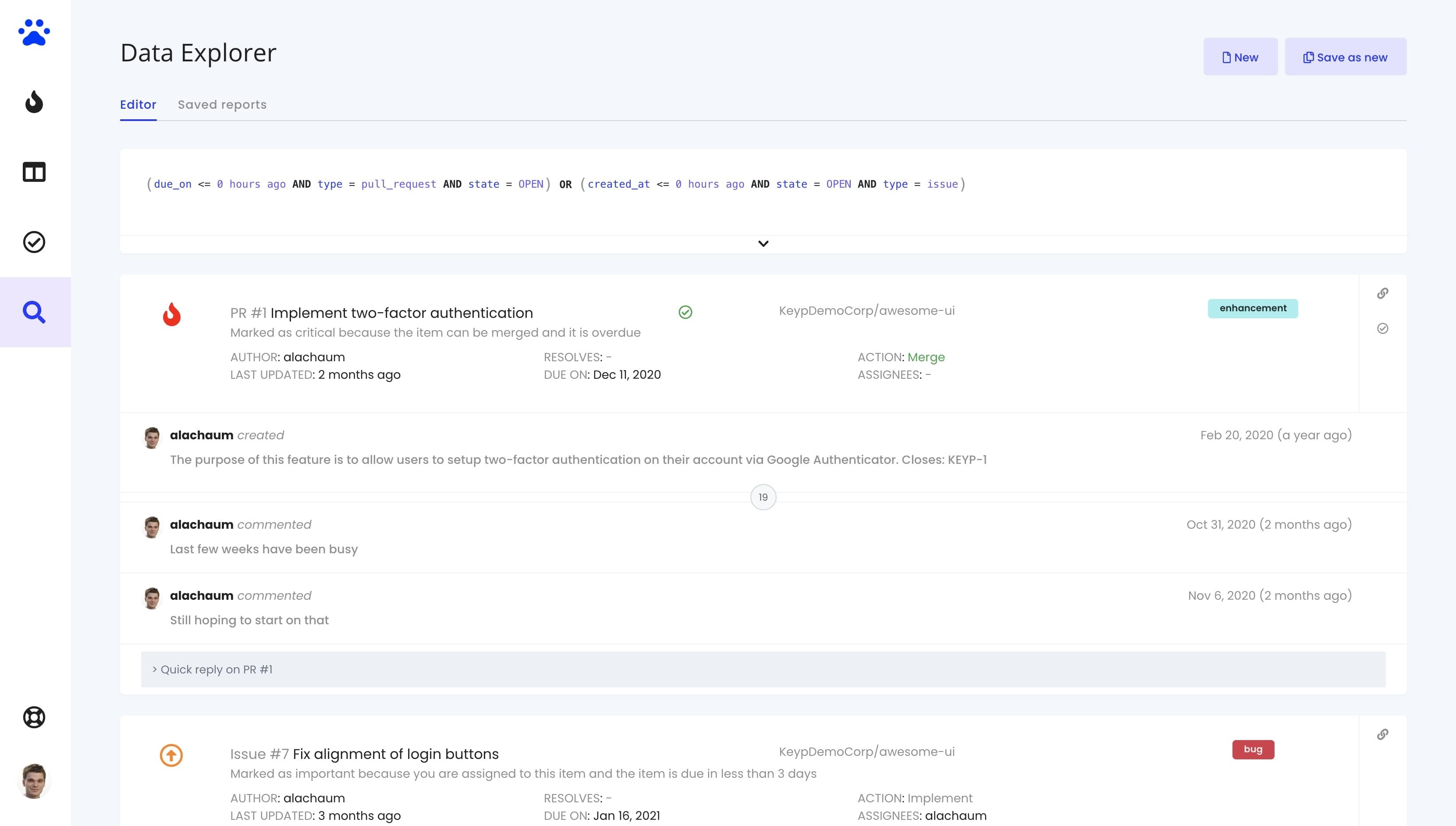 Bitbucket - Data Explorer