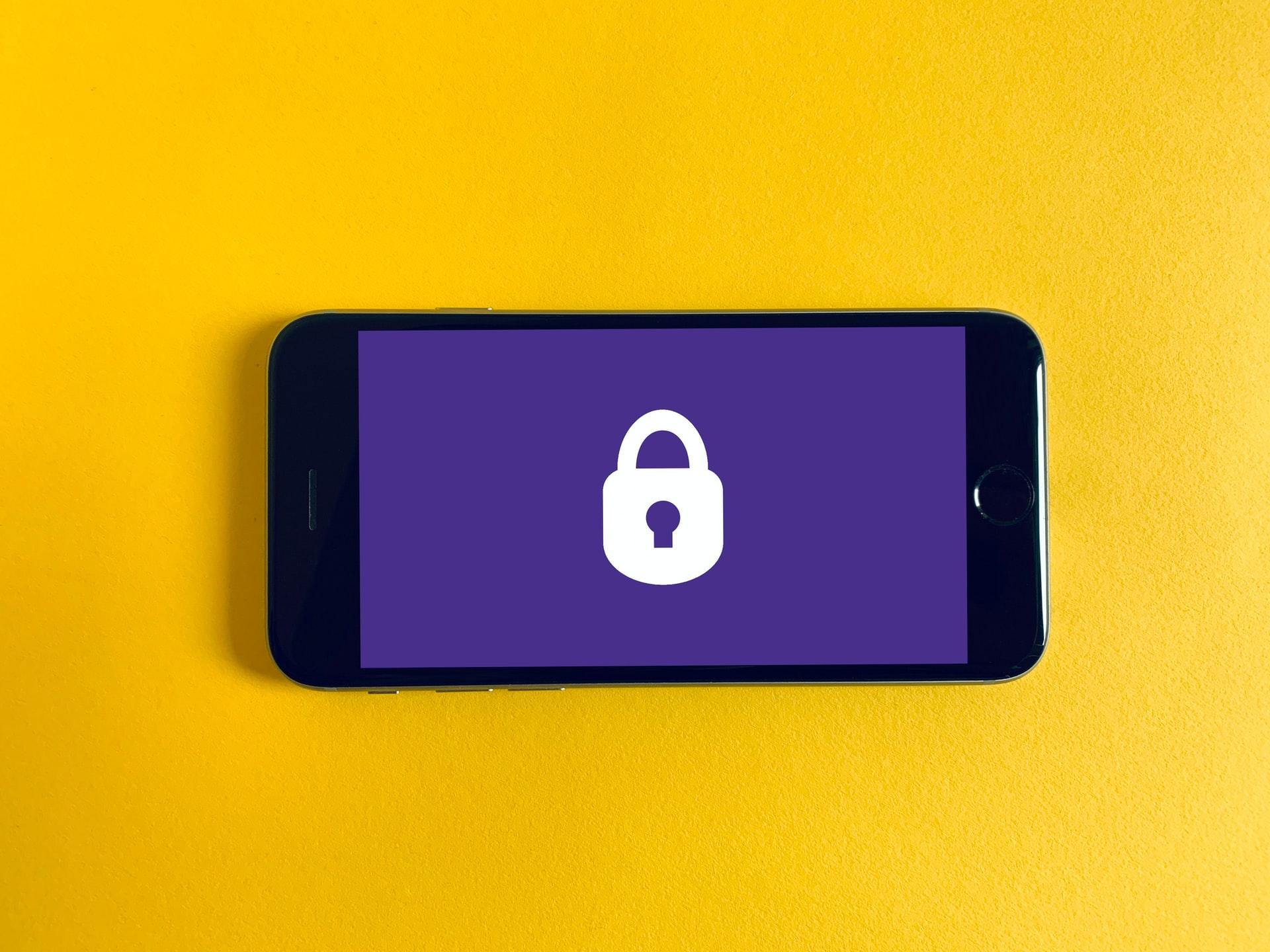 security logo on phone