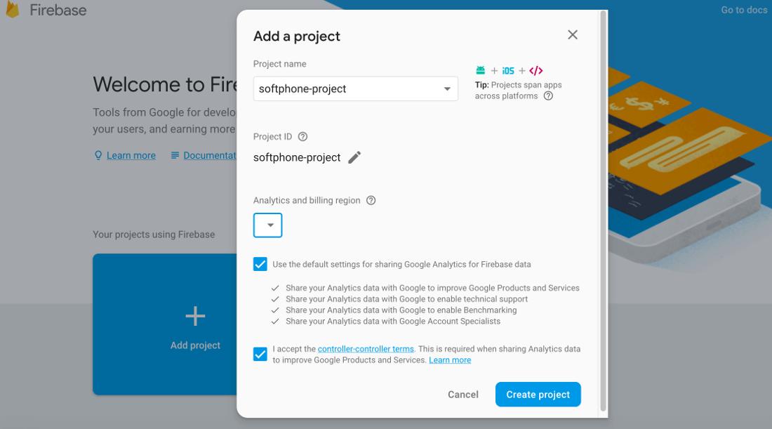 firebase-add-project