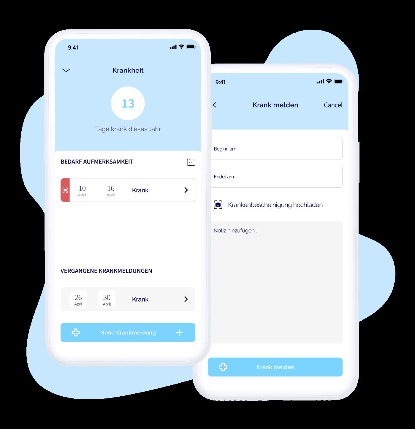 Krankmeldungen per App