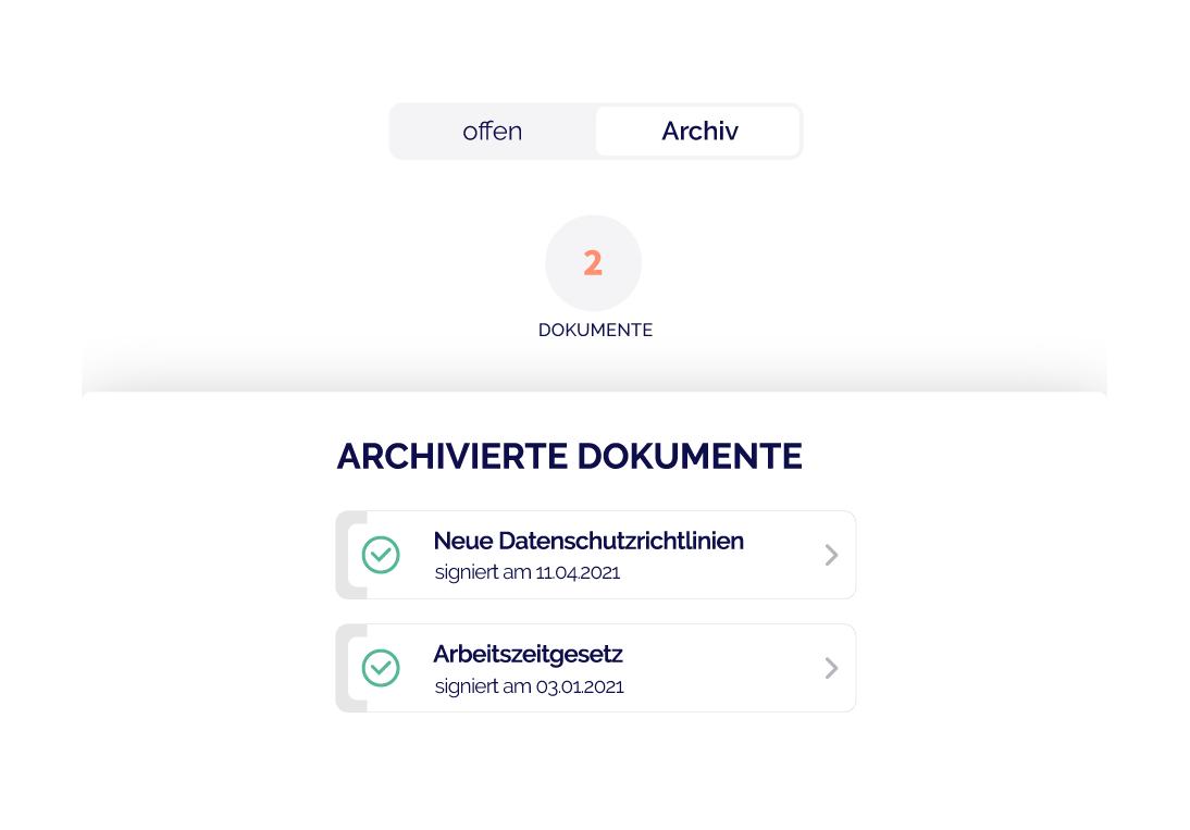 Dokumentenarchiv App