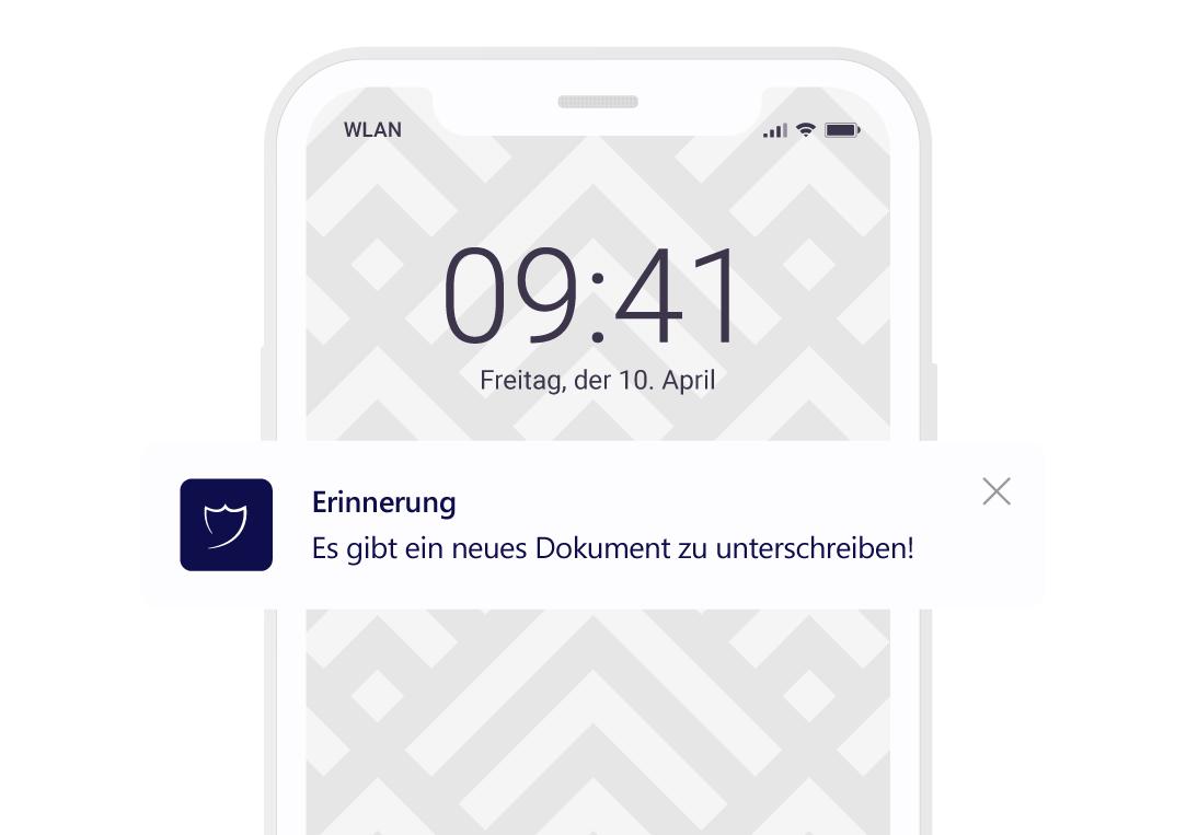 Benachrichtigung per App
