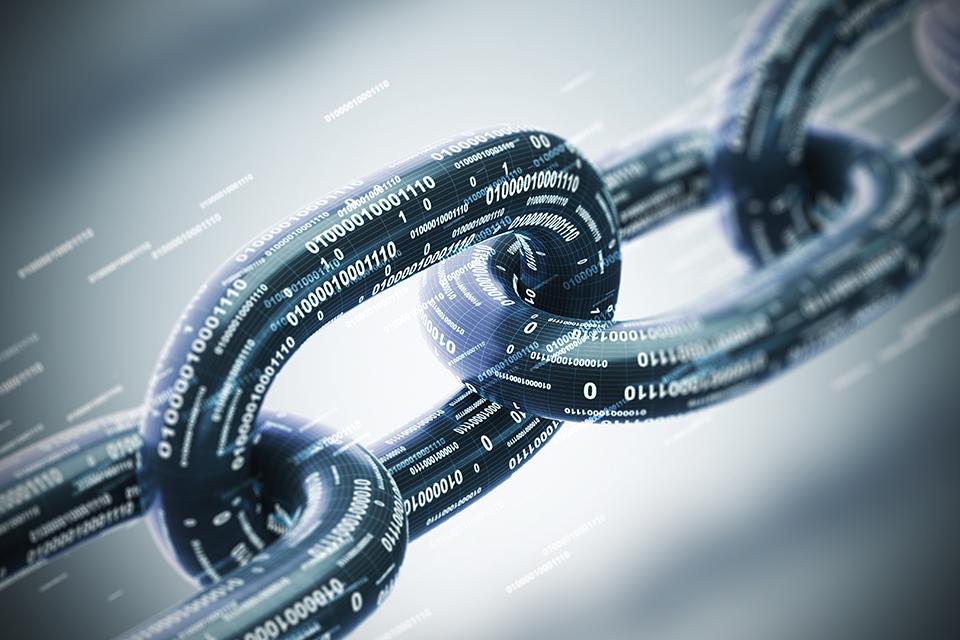 Diagonal chain, a blockchain concept.