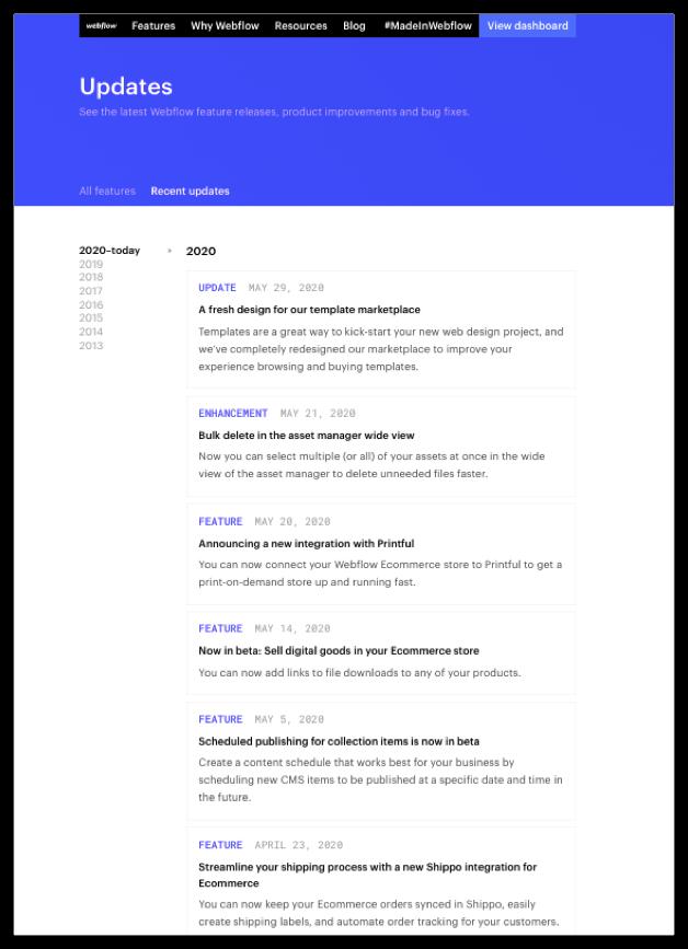 Webflow Latest Updates