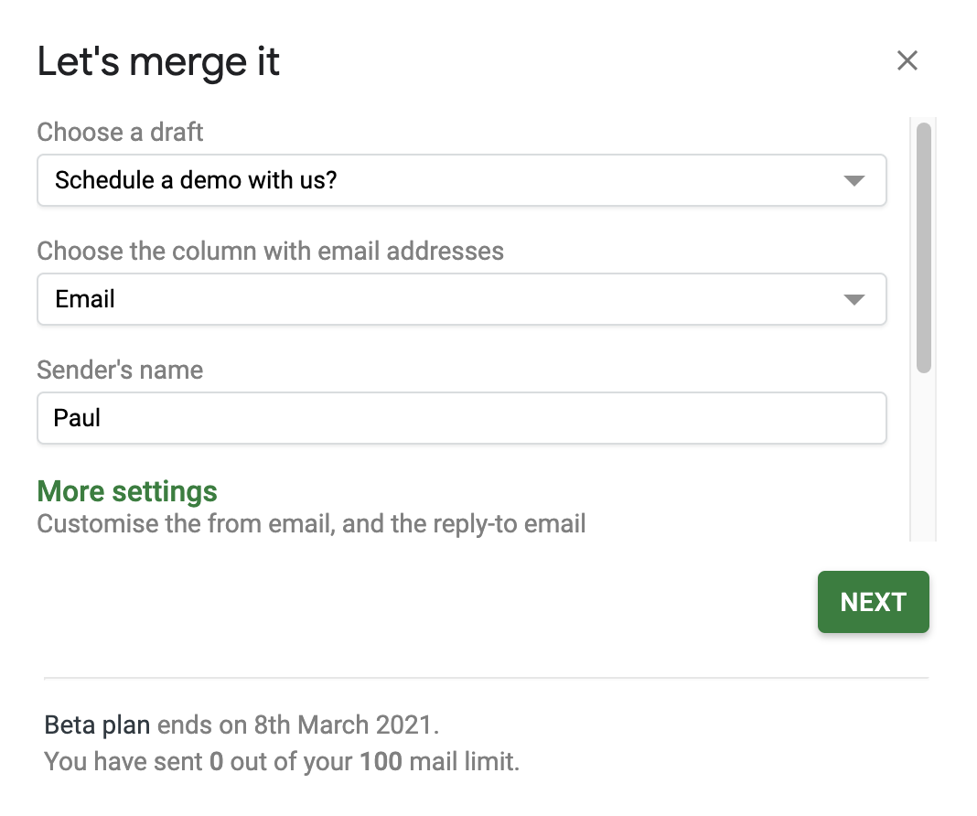 How to Mail Merge using Gmail