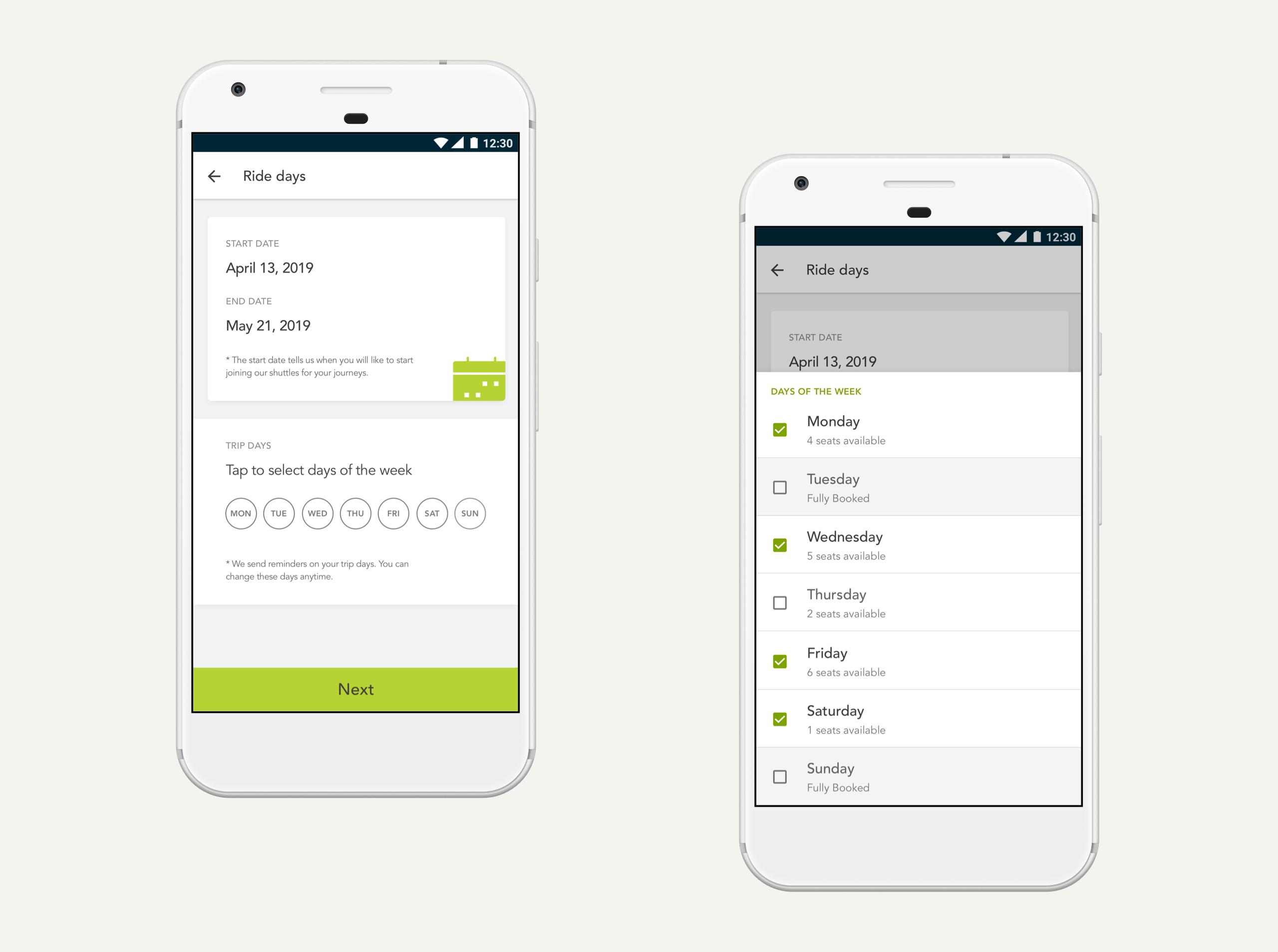 Shuttlers mobile app