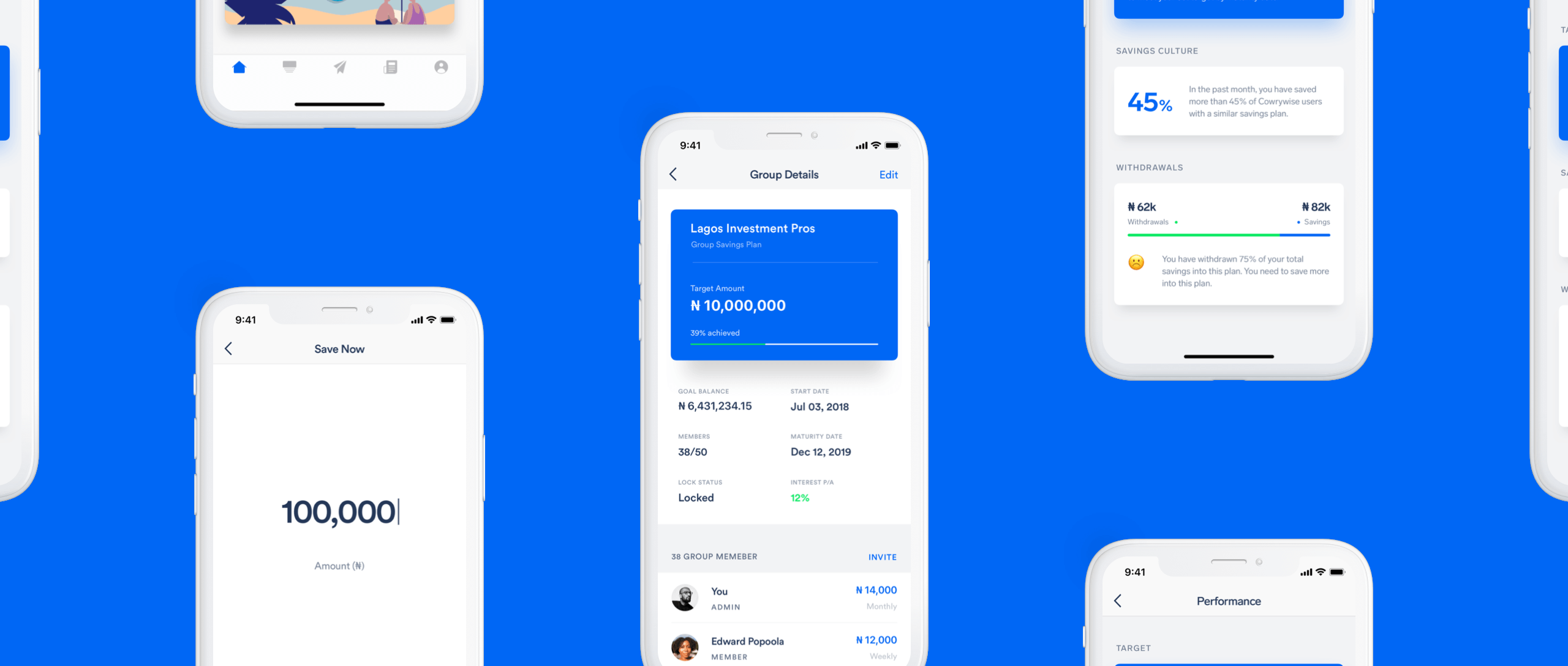 The cowrywise mobile app
