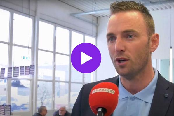 EDEX event - Jochem Goedhals legt Fontys Pulsed tijdens een interview met Studio040
