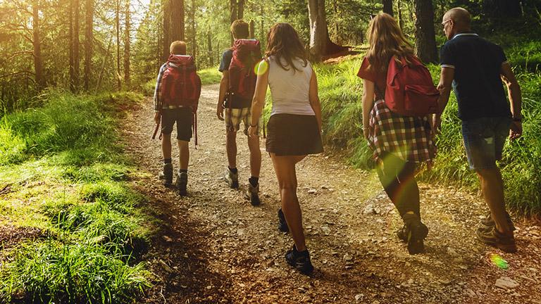 ELEX - mensen wandelen in een groep