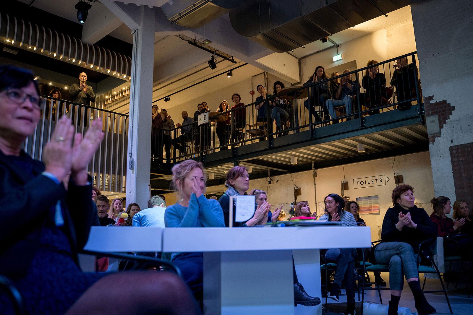 EDEX event - een zaal vol met deelenemers aan EDEX applaudiseren
