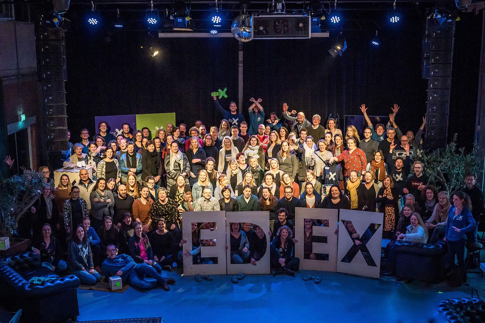 EDEX event - grote groeps foto van alle deelnemers