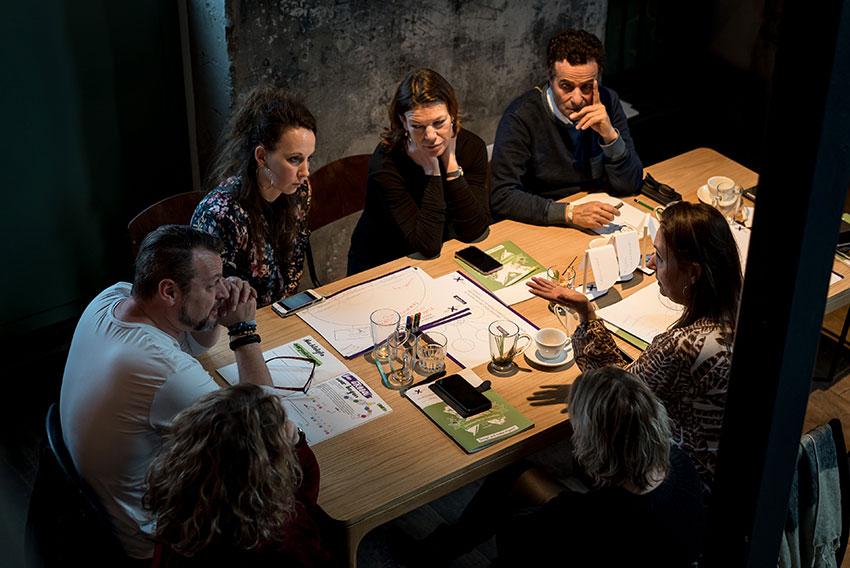 EDEX event - een groep die discussiert