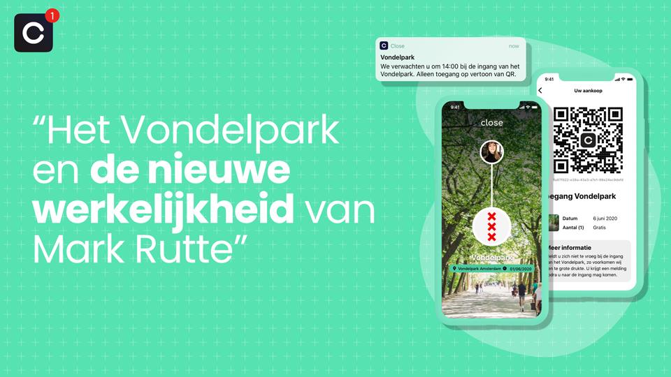 Het Vondelpark en de nieuwe werkelijkheid van Mark Rutte