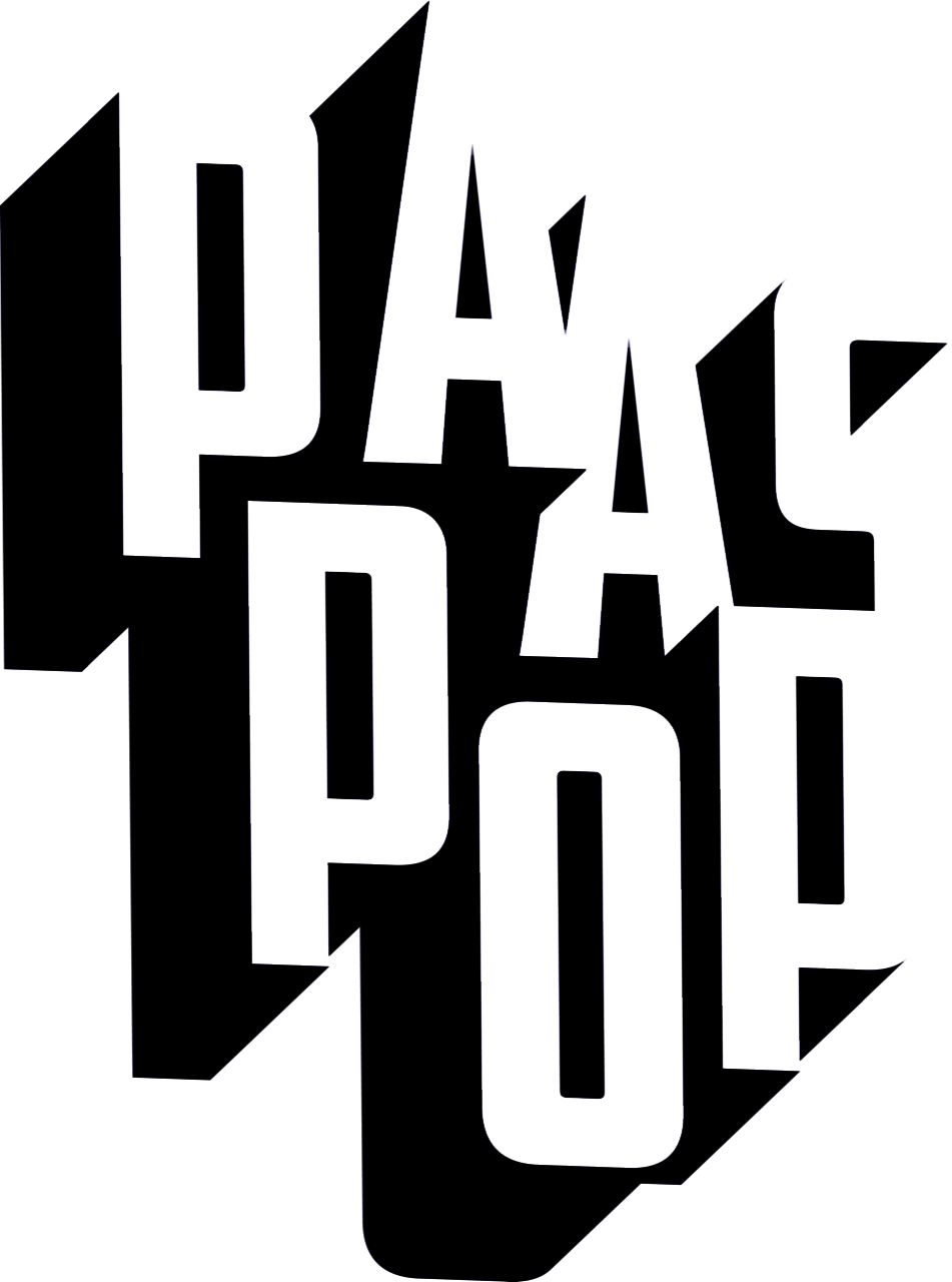 Paaspop black & white logo