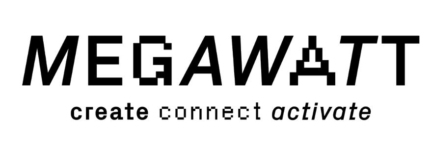 Megawatt black & white logo