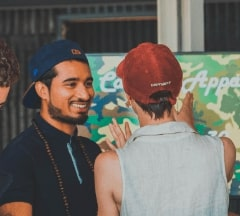 Two Fontys Pulsed students laughing while discussing