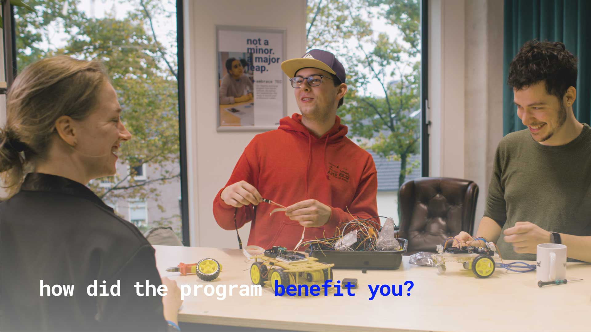 Vimeo video that answers the question of 'how did the program benefit you?'