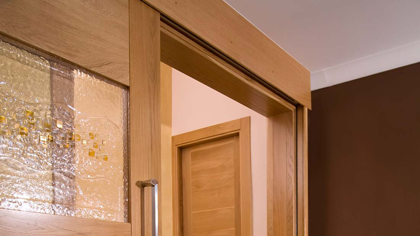 Wood fire-rated door frames in residential home