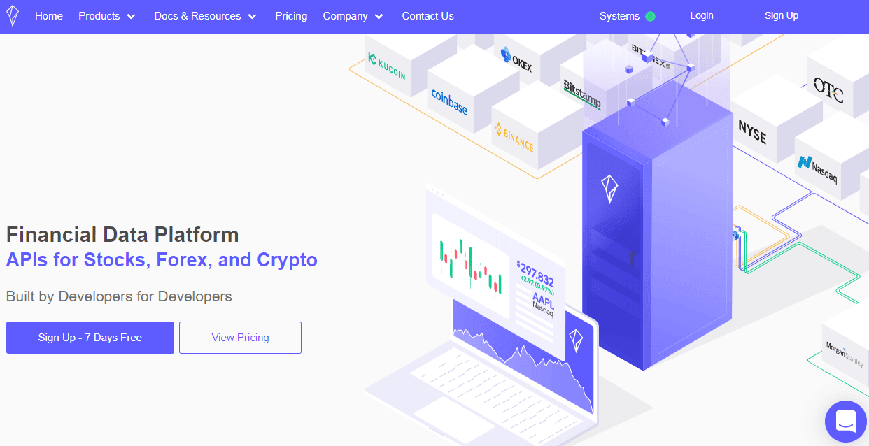 Polygon.io financial data API