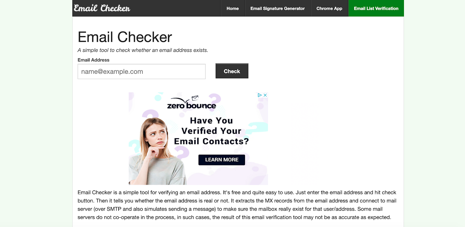 Emailchecker simple