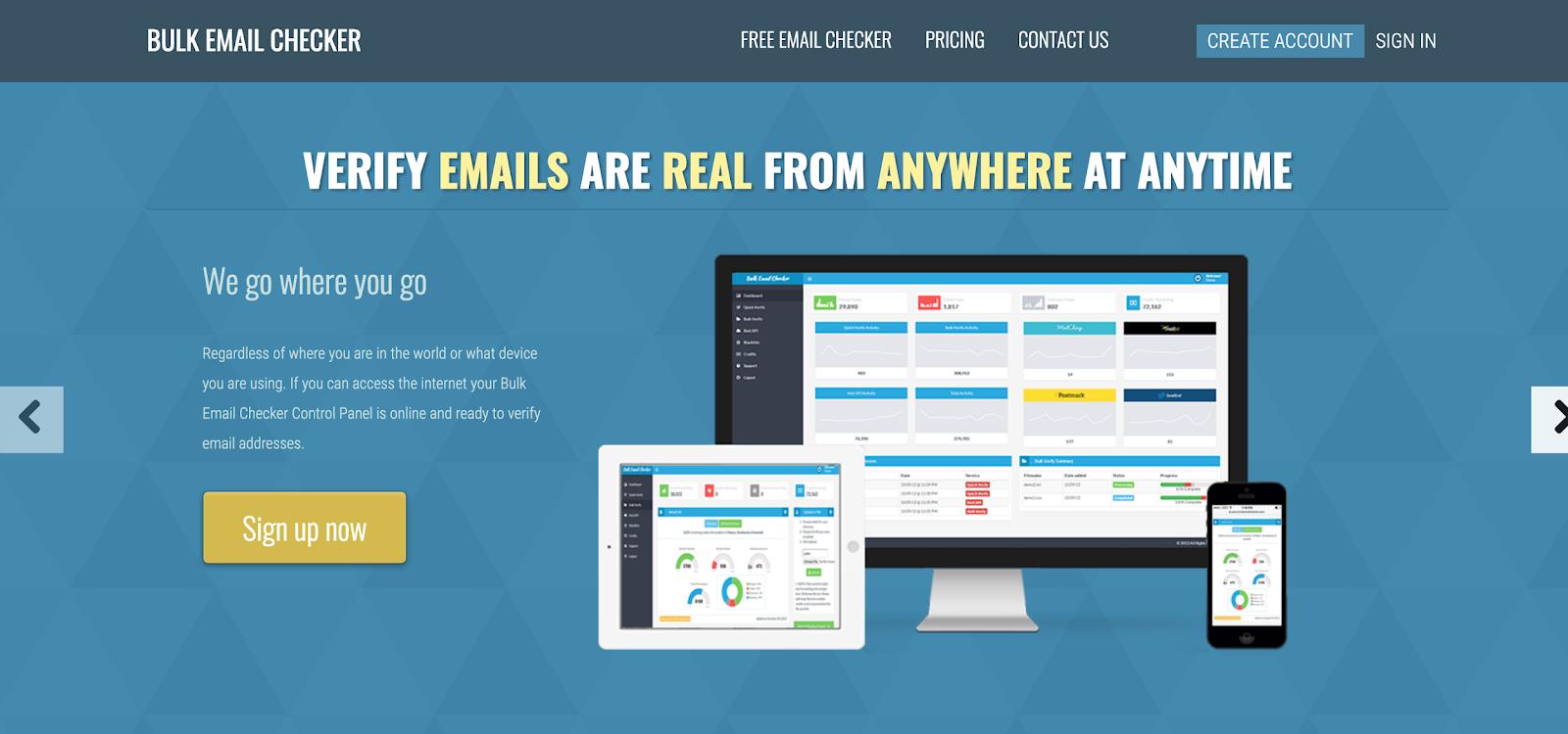 Bulk email checker