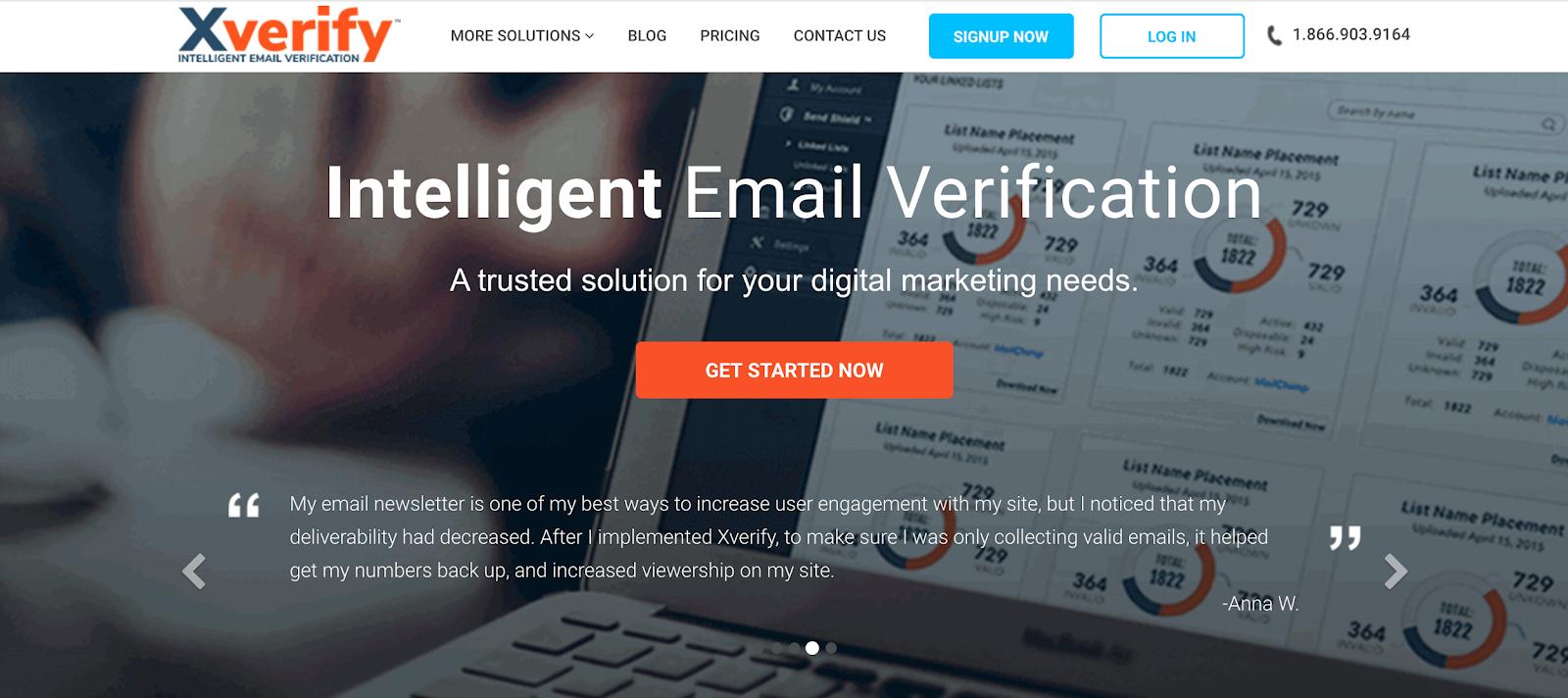 XVerify intelligent email verification