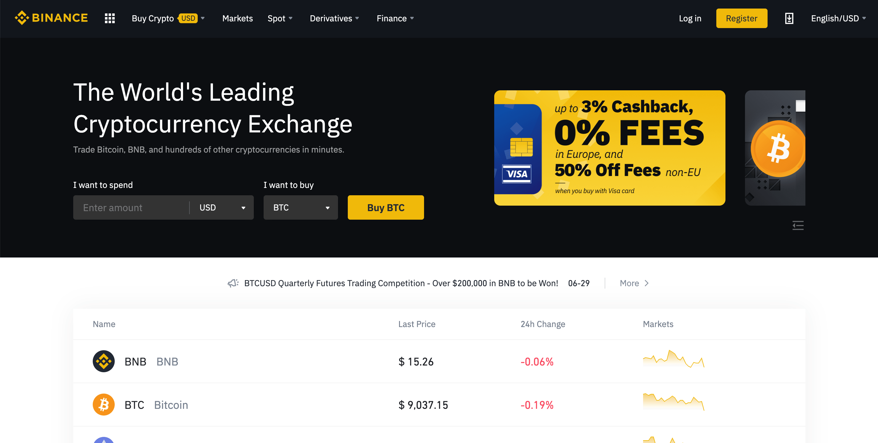 Binance trading API for marketpla