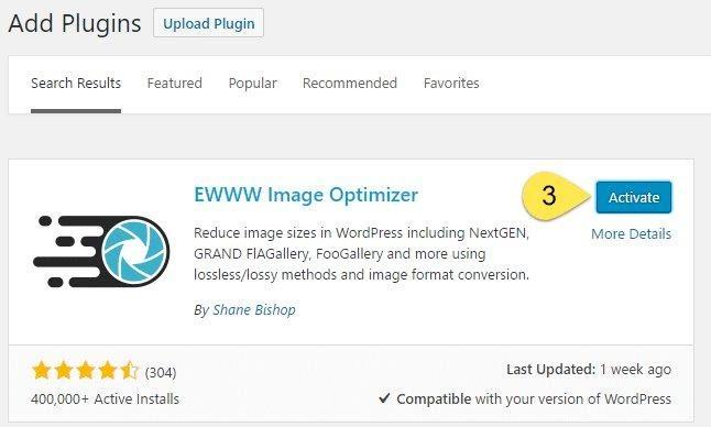 EWWW Image optimizer API