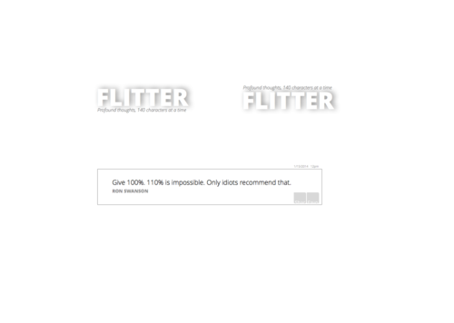 Flitter as a person