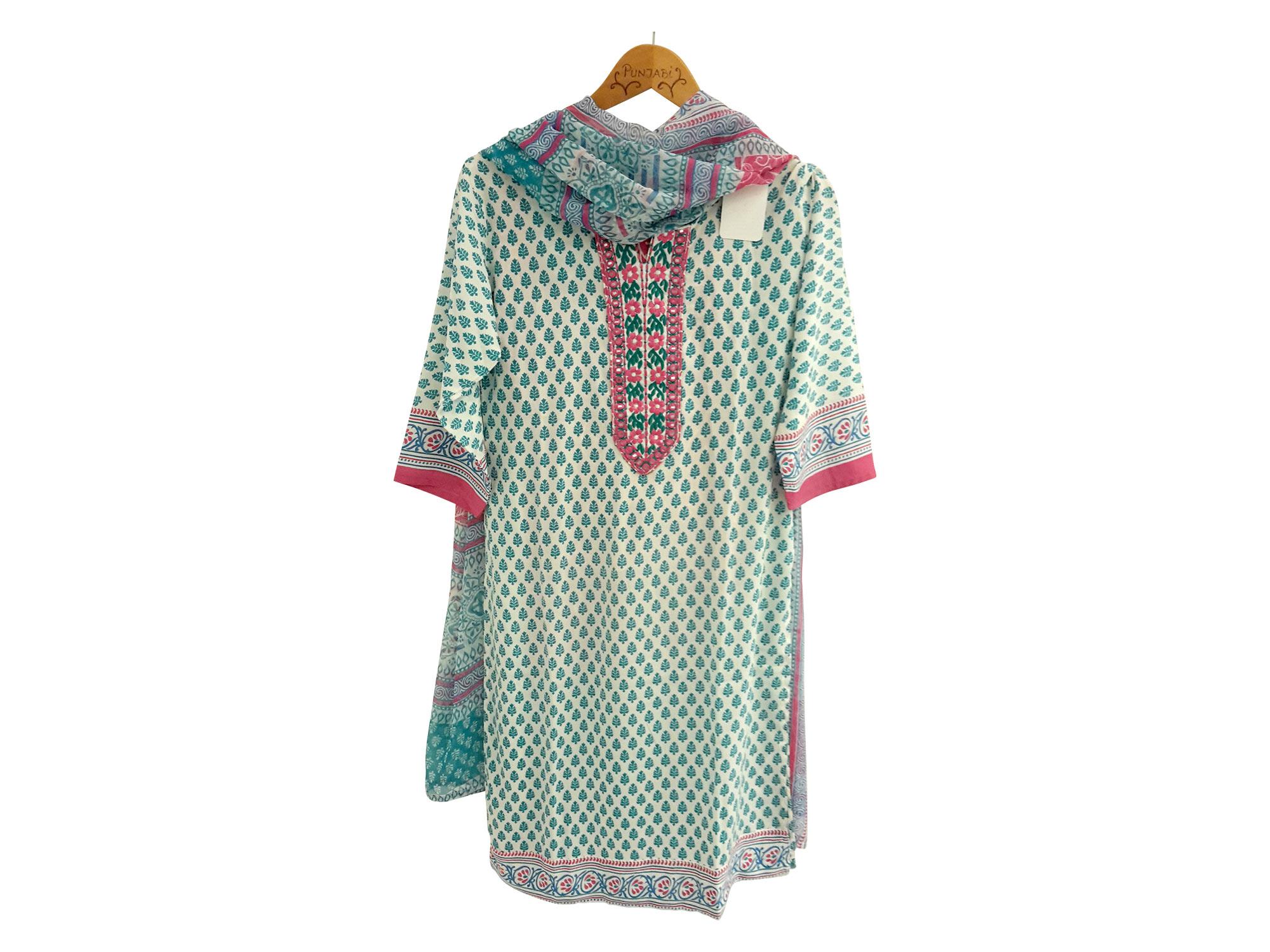 Punjabi , Tunika mit Hose und Schal