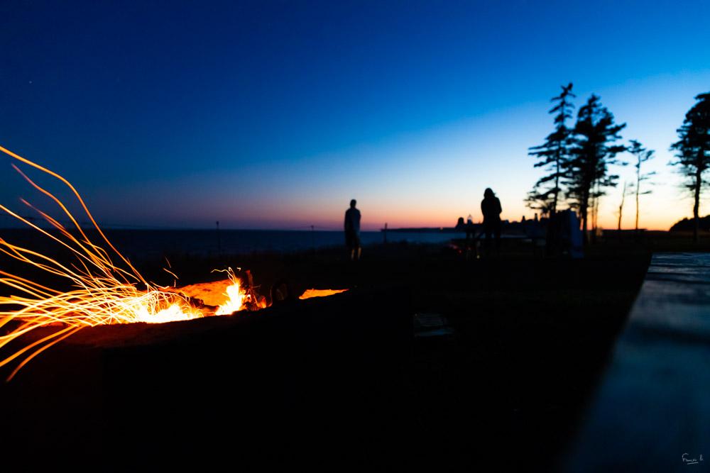 Feu nocturne - Ile du Prince Edouard (Canada) - François B. pour Photo-to-go